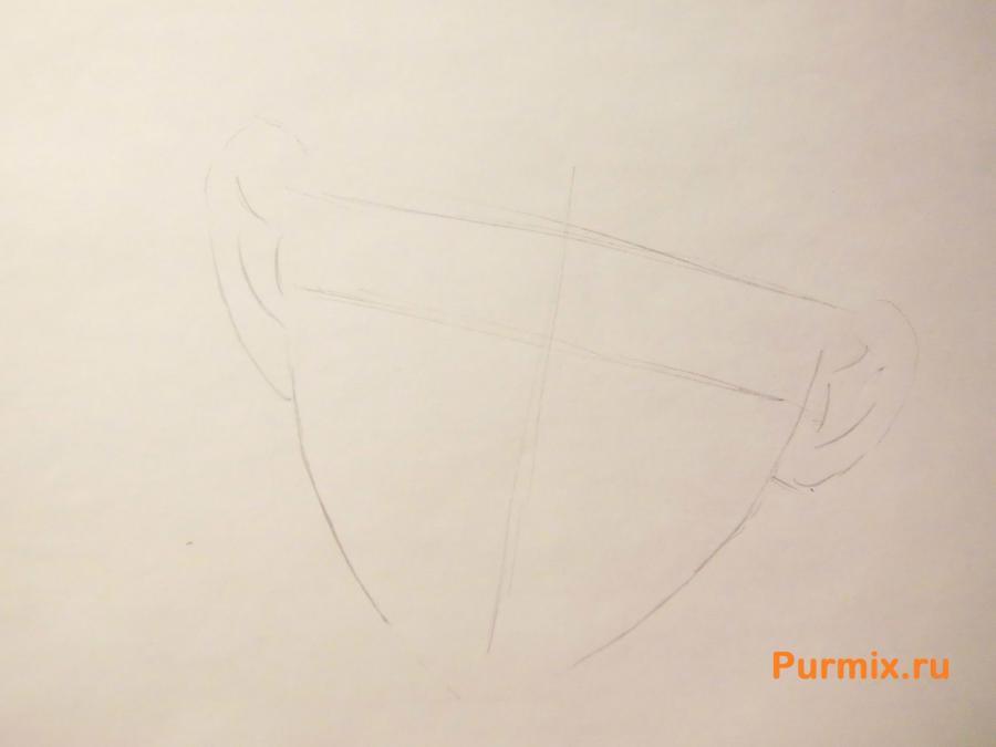 Рисуем Аято Сакамаки из аниме Дьявольские возлюбленные - шаг 1