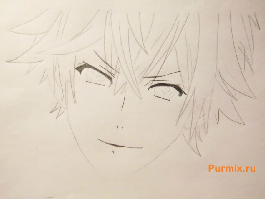 Рисуем Аято Сакамаки из аниме Дьявольские возлюбленные - шаг 3