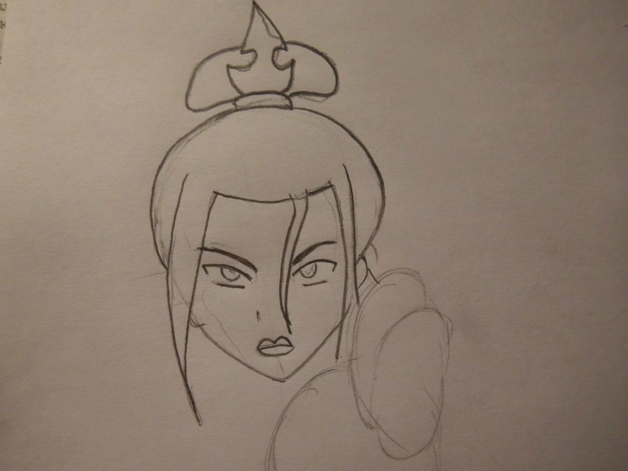 Как нарисовать Азула из аниме Аватар:легенда об Аанге