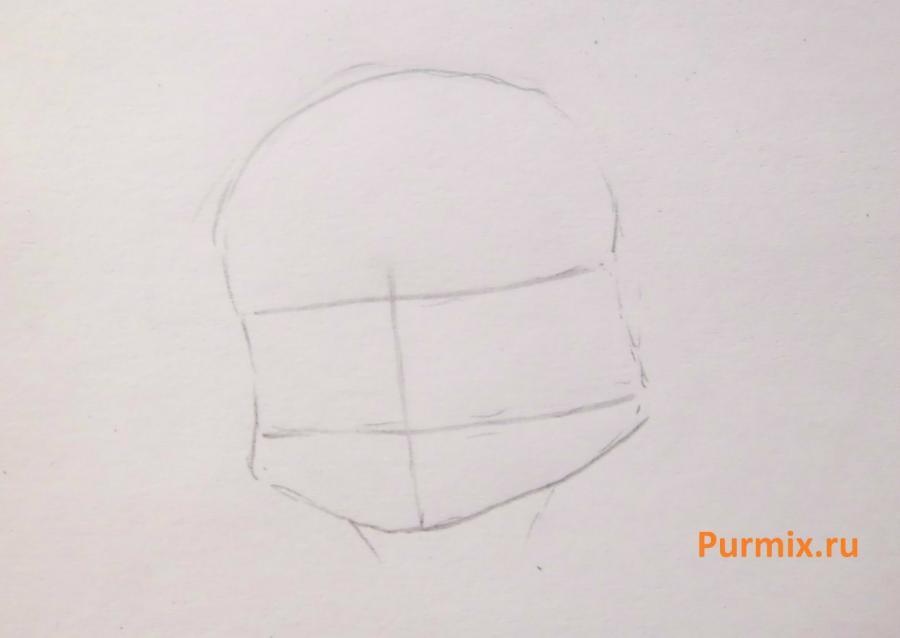 Рисуем белого аниме тигренка простым - фото 1