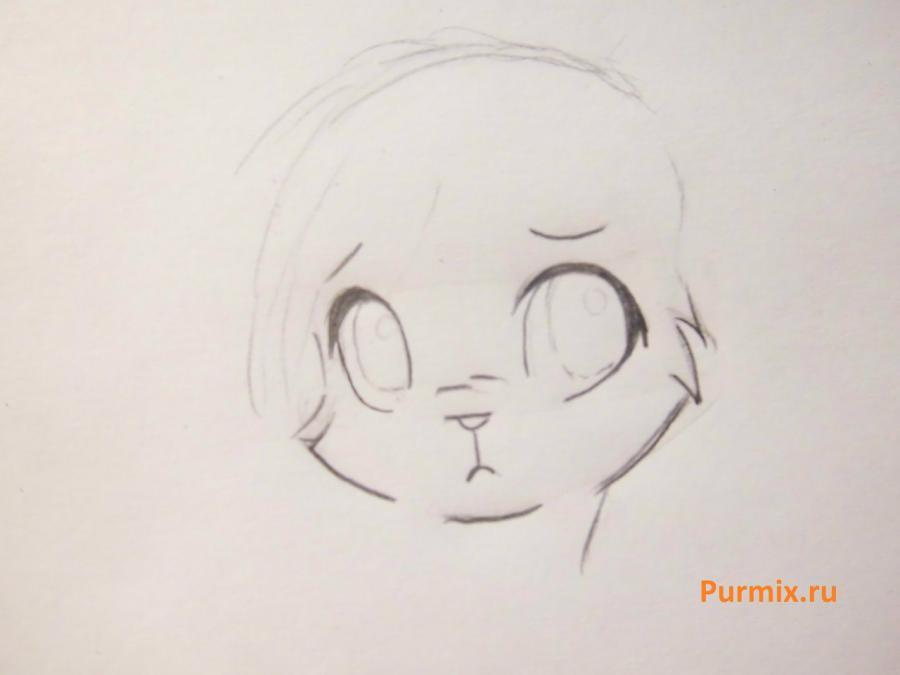 Рисуем белого аниме тигренка простым - фото 2