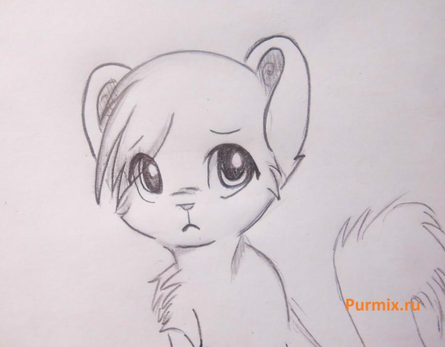Рисуем белого аниме тигренка простым - фото 7
