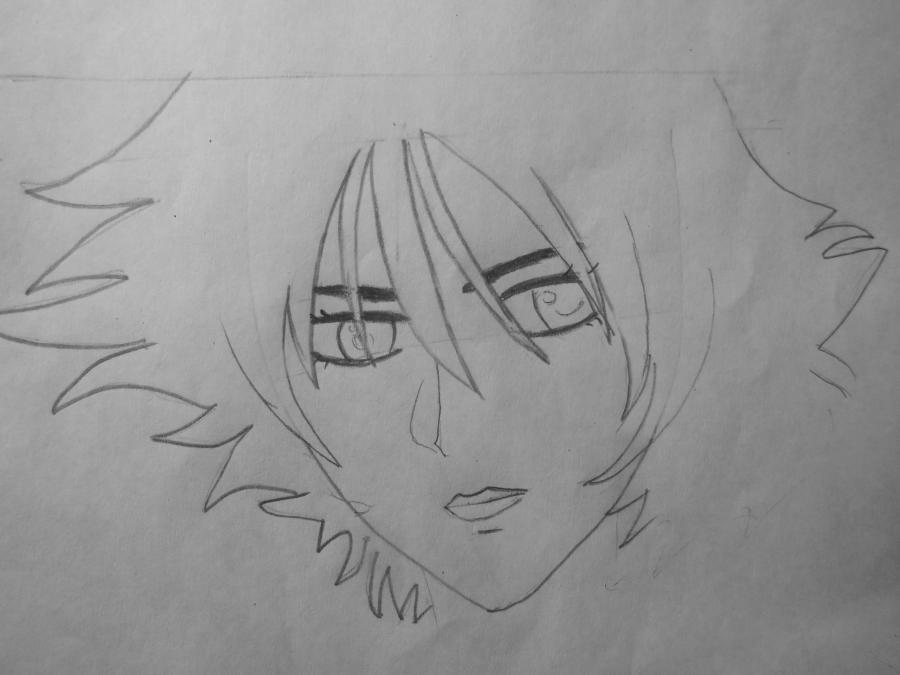 Как нарисовать Блю из Волчий дождь карандашом поэтапно