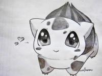 Фото бульбазавра из аниме покемоны карандашом