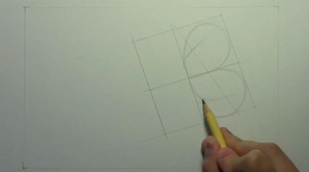 Рисуем аниме пару карандашами - шаг 1