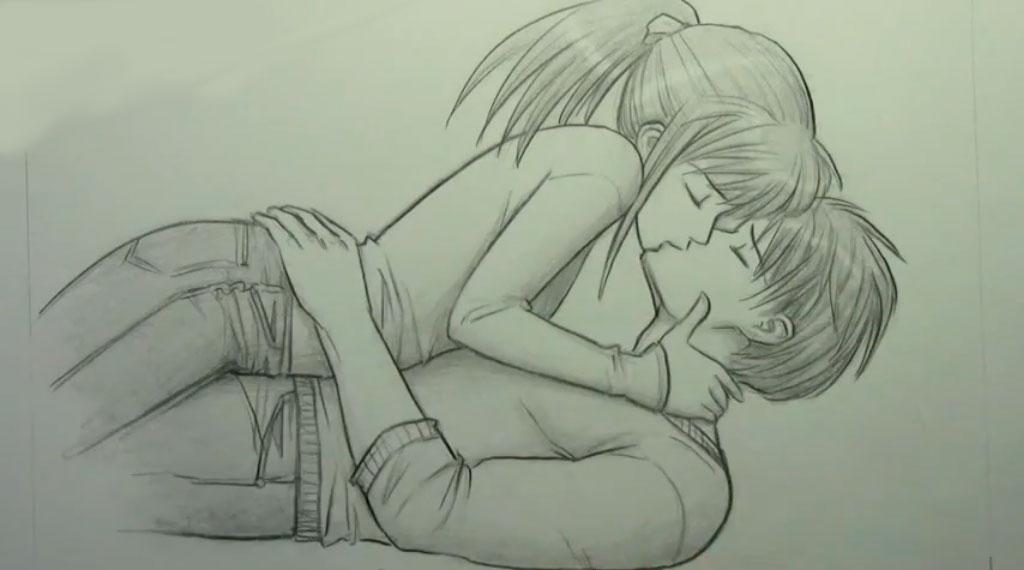 Рисуем аниме пару карандашами - шаг 10