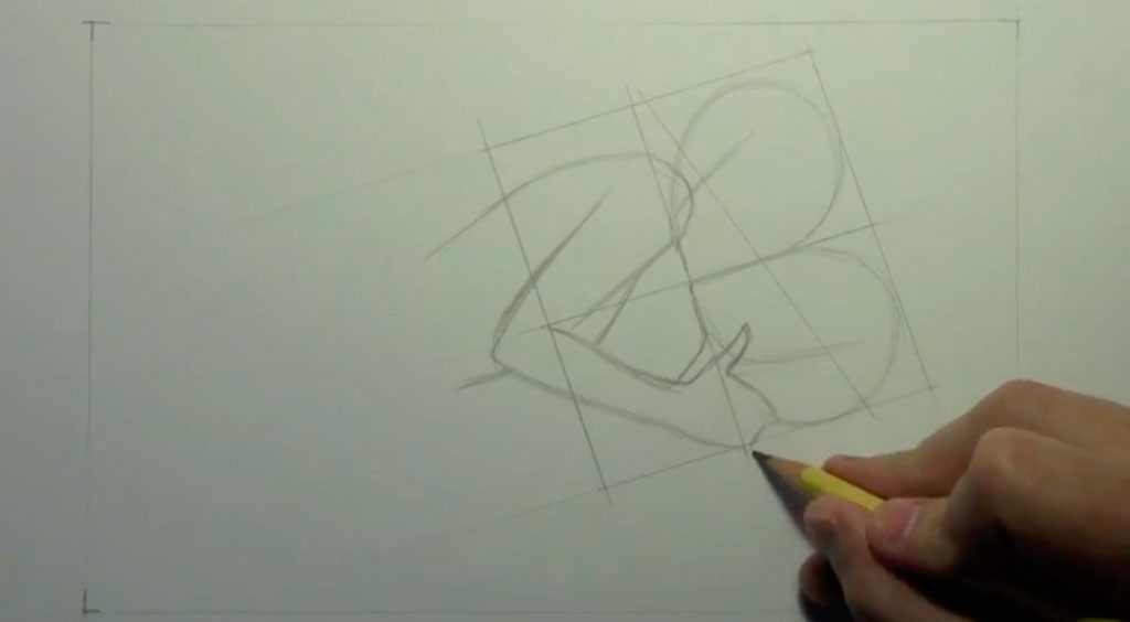 Рисуем аниме пару карандашами - шаг 2
