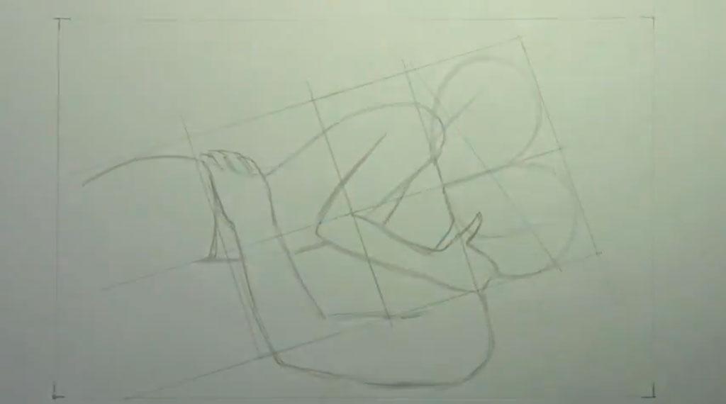 Как нарисовать целующуюся лежа аниме