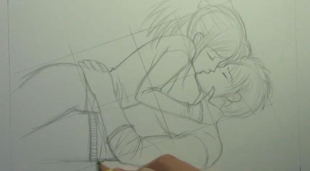 Рисуем аниме пару карандашами - шаг 6