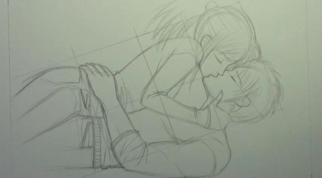 Рисуем аниме пару карандашами - фото 7