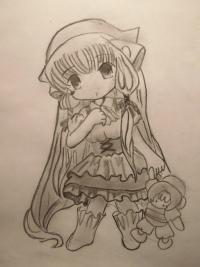 Как нарисовать Чии из Чобитов карандашом поэтапно