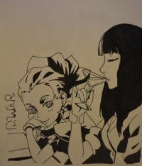 Чиюки и Нону из аниме Парад смерти