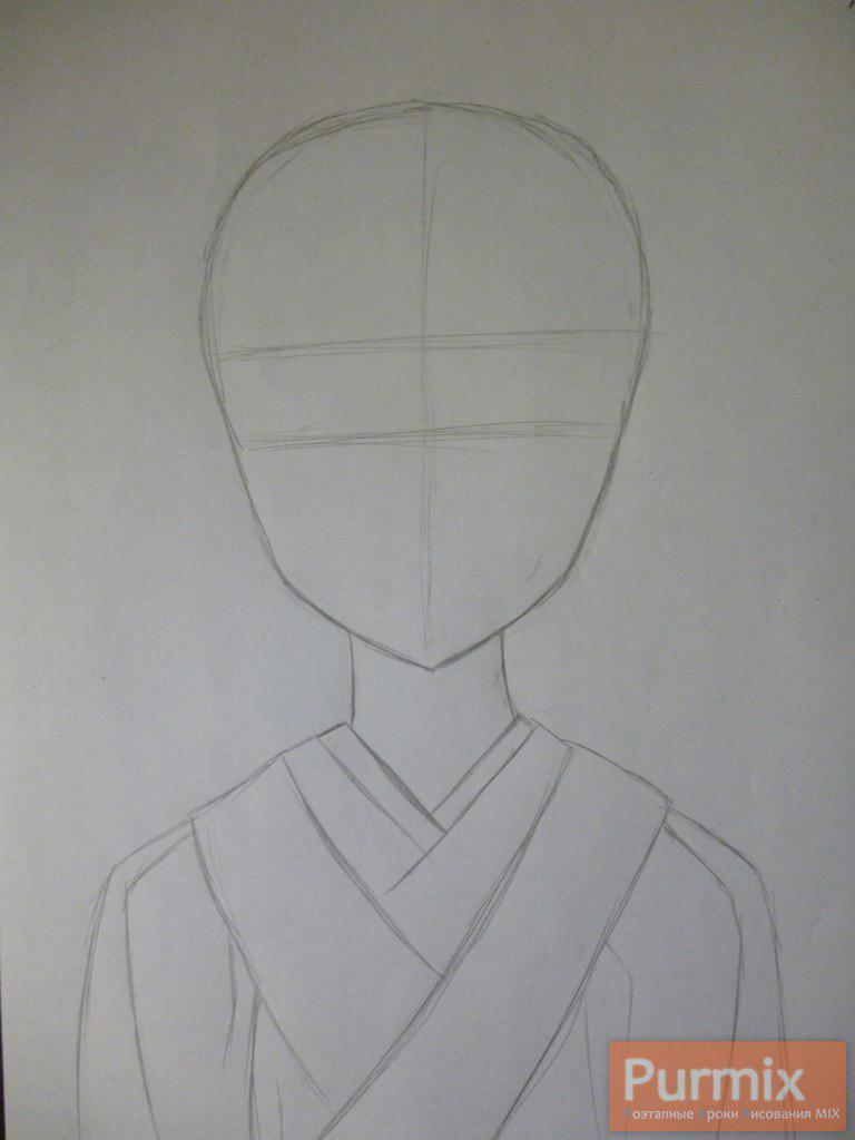 Рисуем Цубаки Касугано из аниме Дневник будущего