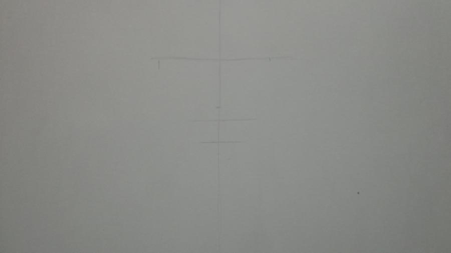 Рисуем Цубаки, слугу-вампира уныние из аниме Сервамп - шаг 1
