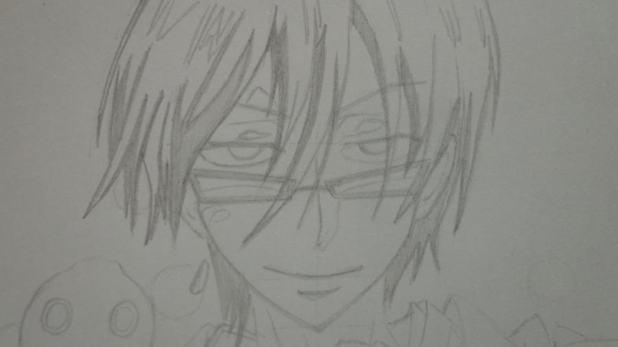 Рисуем Цубаки, слугу-вампира уныние из аниме Сервамп - шаг 10