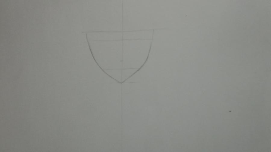 Рисуем Цубаки, слугу-вампира уныние из аниме Сервамп - шаг 2