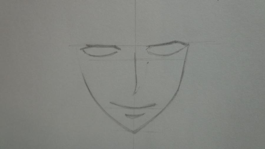 Рисуем Цубаки, слугу-вампира уныние из аниме Сервамп - шаг 3