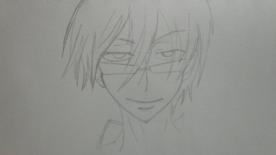 Рисуем Цубаки, слугу-вампира уныние из аниме Сервамп - шаг 5