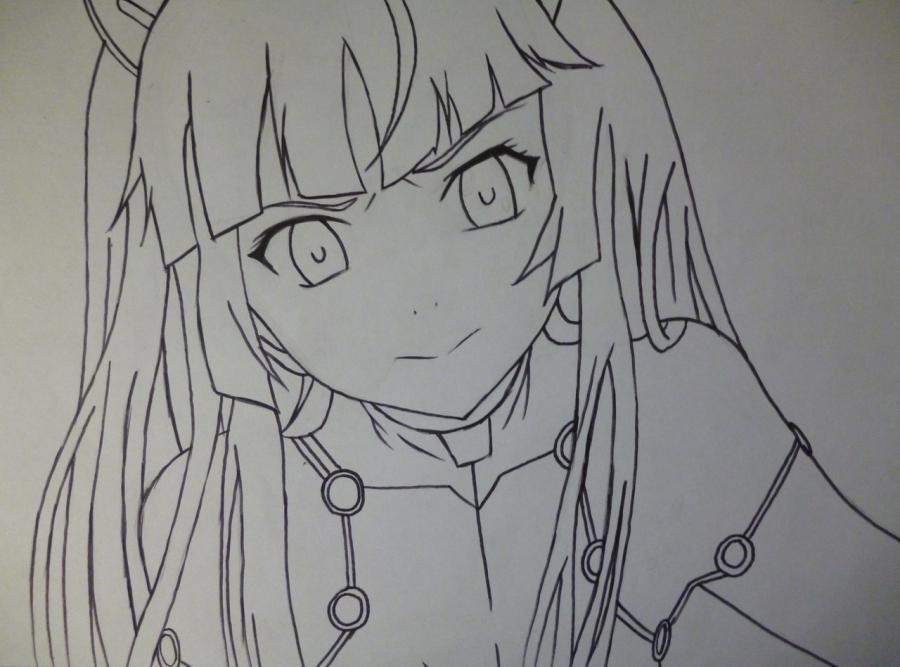 Рисуем Цугуми из аниме Корона грешника простым