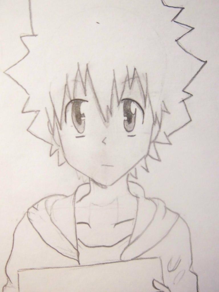 Рисуем Цунаёси Савада из аниме Reborn