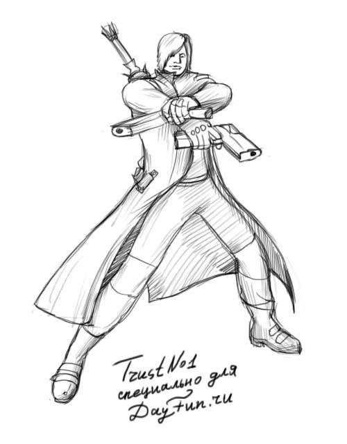 Как нарисовать Данте из Даже