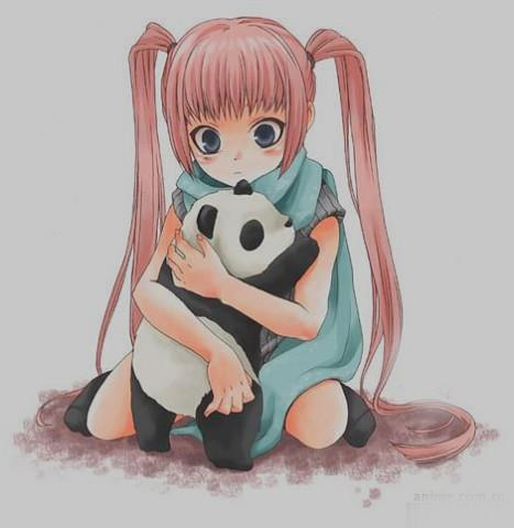 Рисуем девочку аниме с пандой