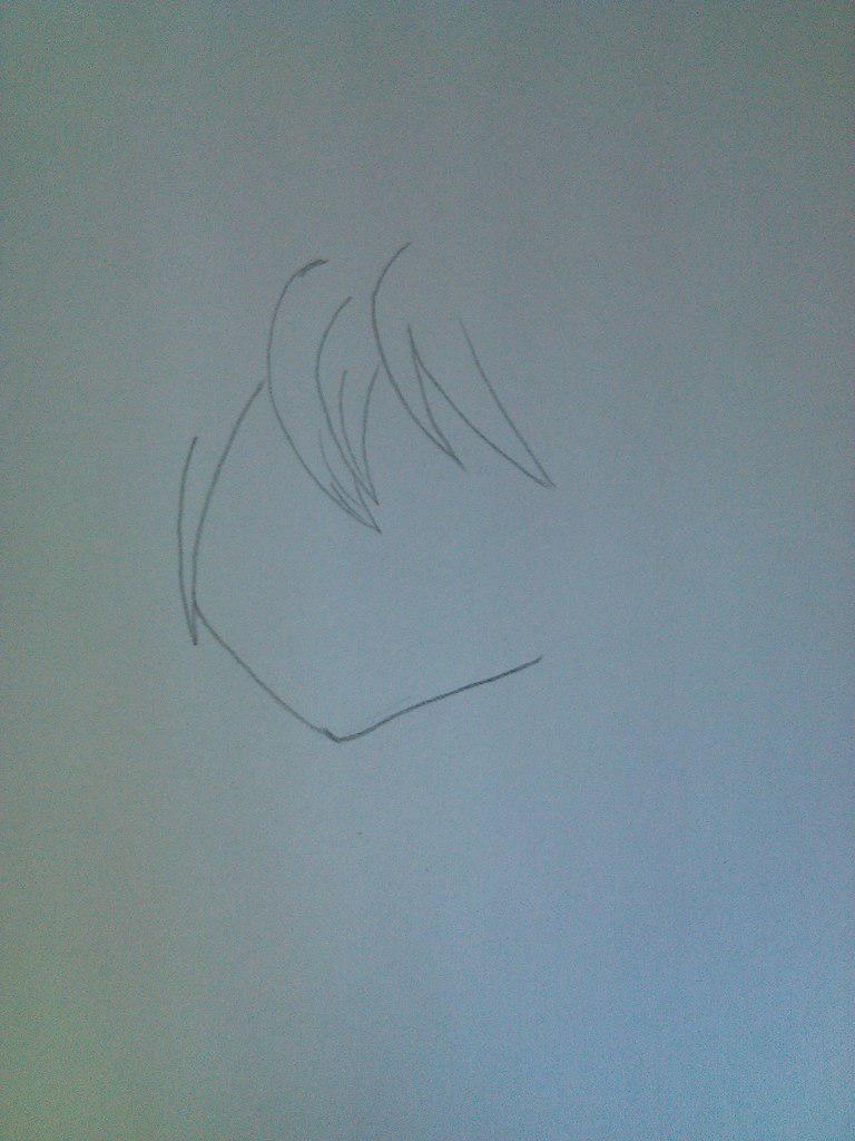 Рисуем девочку неко карандашами - шаг 1