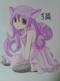 Рисунок девочку неко
