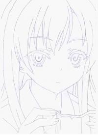девушку из аниме Boku wa Tomodachi ga Sukunai