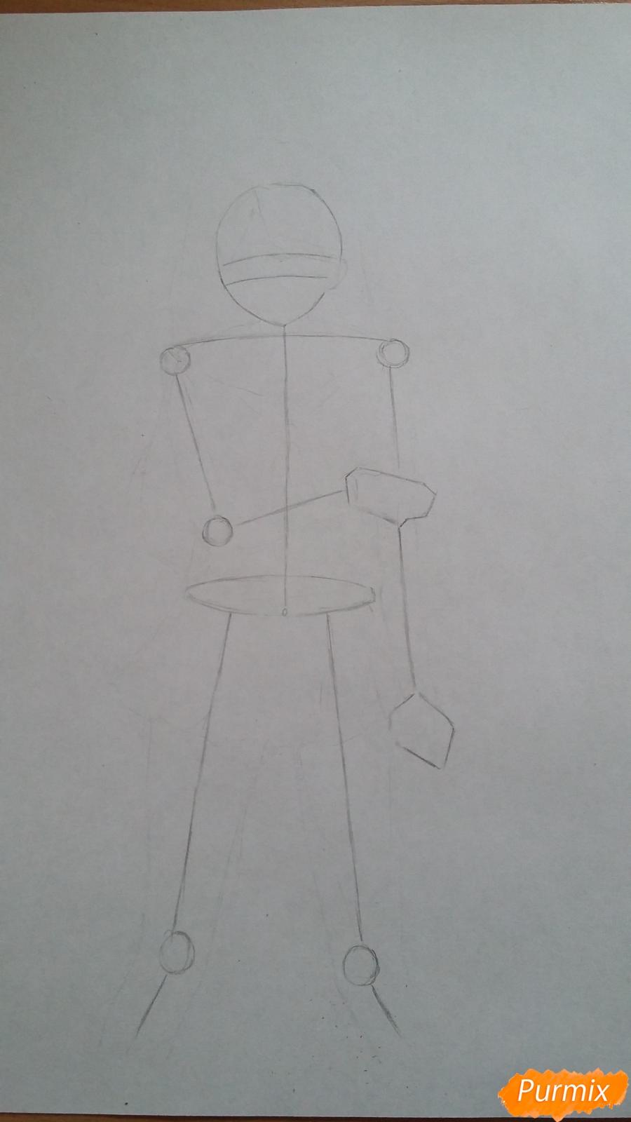 Рисуем девушку с катаной в аниме стиле - шаг 1