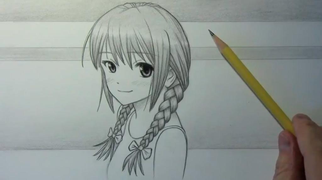 Аниме картинки девушки с косами