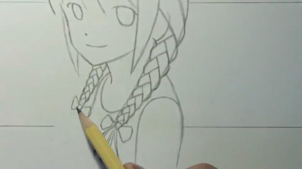 Как рисовать аниме с косичками