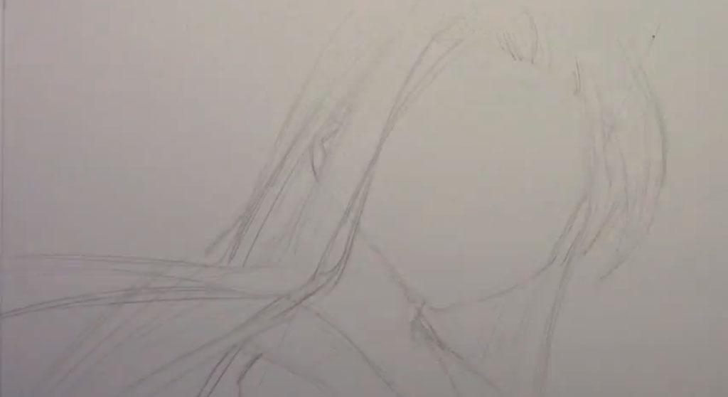 Рисуем девушку с реалистичными глаза в стиле манга - фото 1
