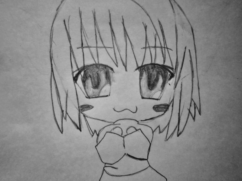 Рисуем чиби  девушку с кошачьими ушками - шаг 4