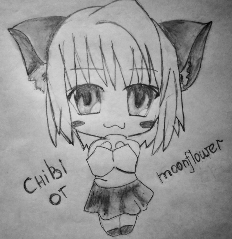 Рисуем чиби  девушку с кошачьими ушками - шаг 7