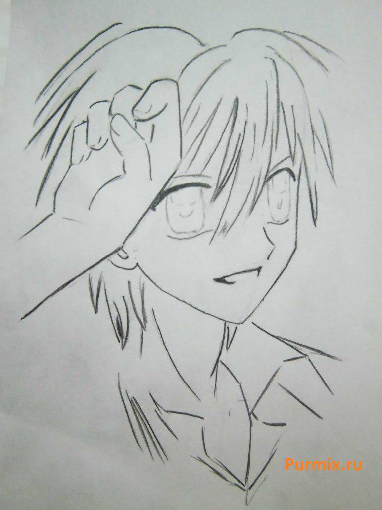 Как нарисовать Домото Кайто из аниме Мелодия русалки