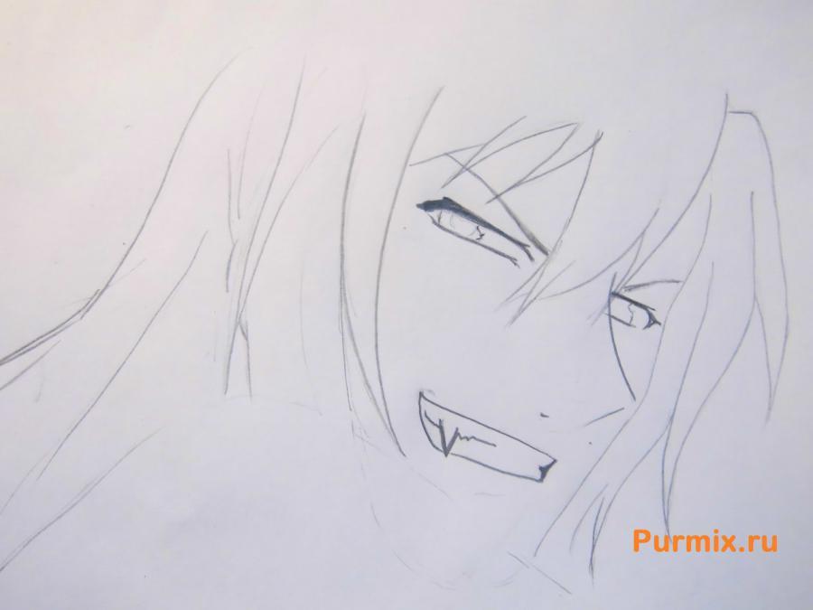 Как нарисовать Дзиро Мотидзуки из аниме Братство черной крови