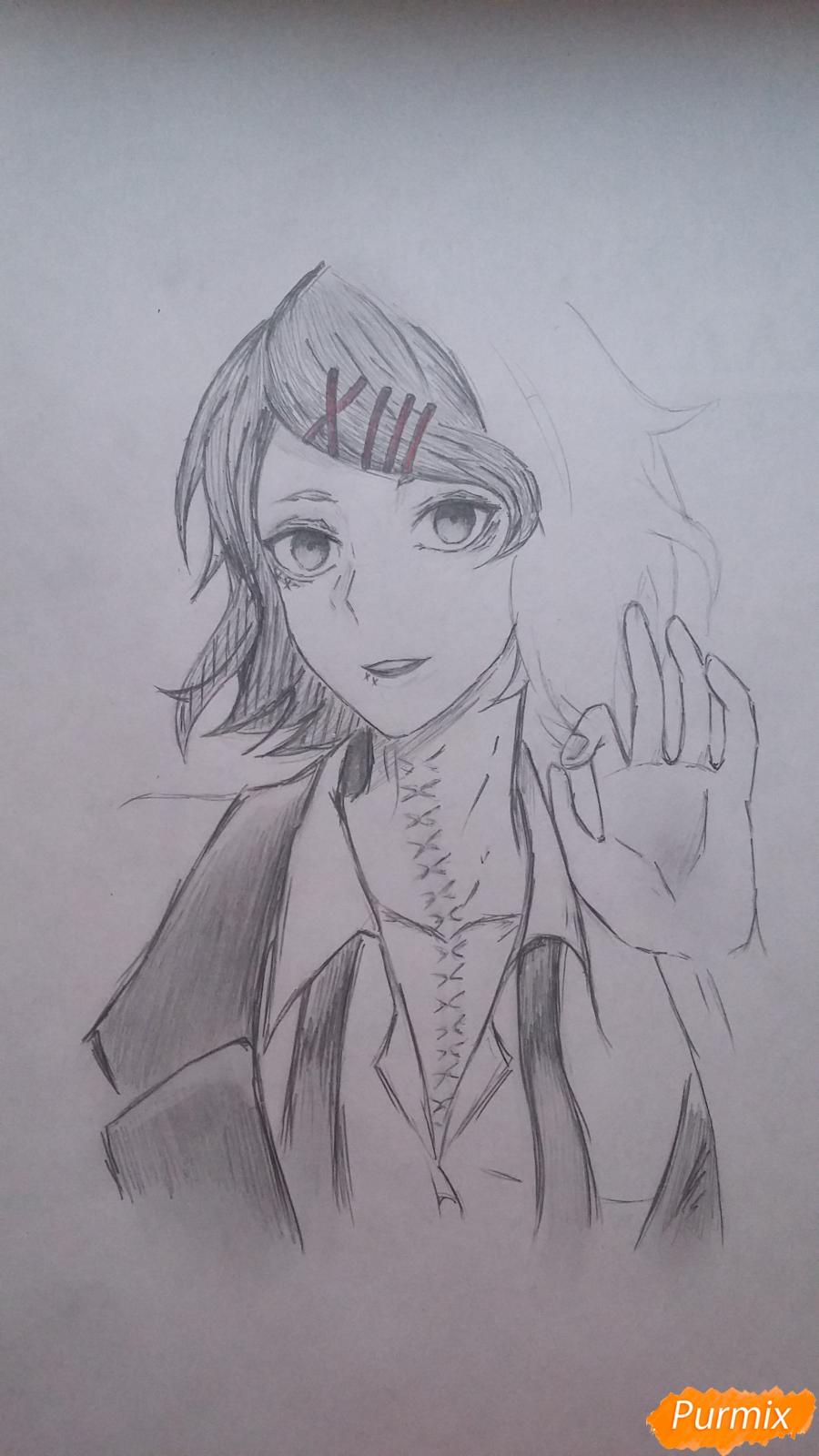 Рисуем Дзюдзо Судзую из аниме Токийский гуль - шаг 9