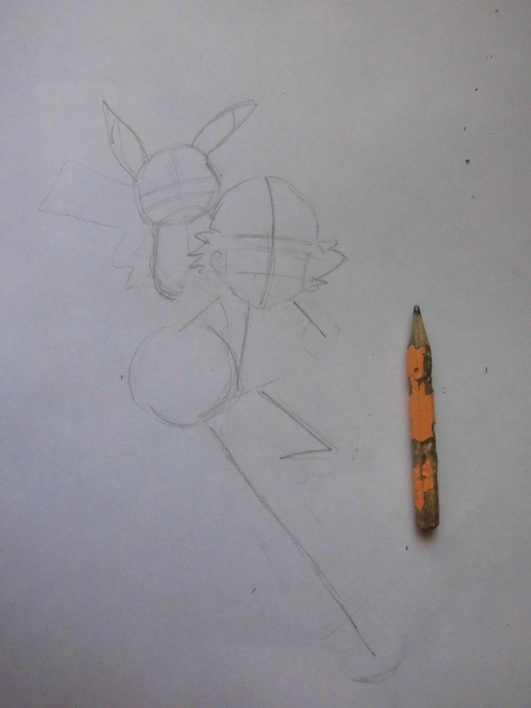 Нарисовать эша поэтапно