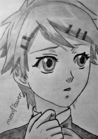 Фото Финни из аниме Темный дворецкий карандашом