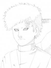 Как нарисовать Гаару из Наруто