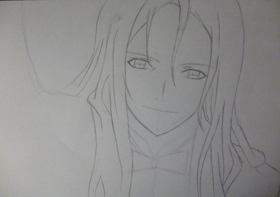 Рисуем Гая Цуцугами из аниме Корона Грешника