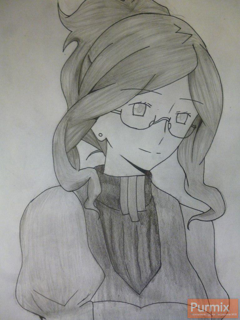 Как нарисовать Генриетту из аниме Лог Горизонт простым карандашом