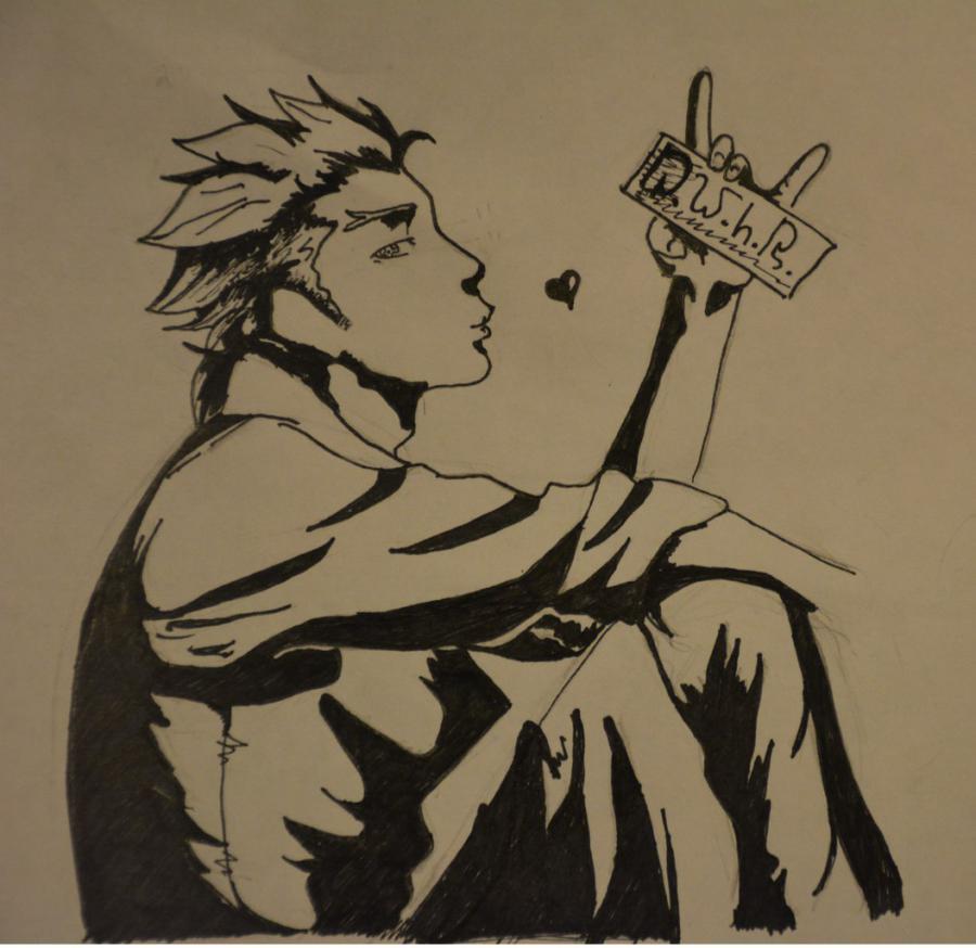 Рисуем Гинти из аниме Парад Смерти