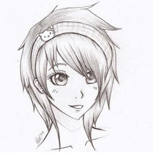 Рисуем голову аниме девушки