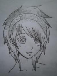 Как нарисовать голову аниме девушки карандашом поэтапно