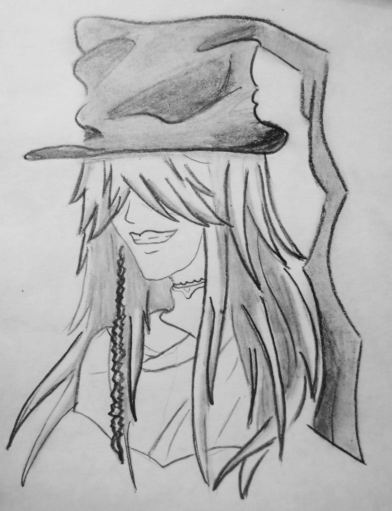 Рисуем гробовщика из Темный дворецкий