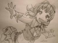 Как нарисовать Гуми Мегпоид из Вокалоидов карандашом поэтапно