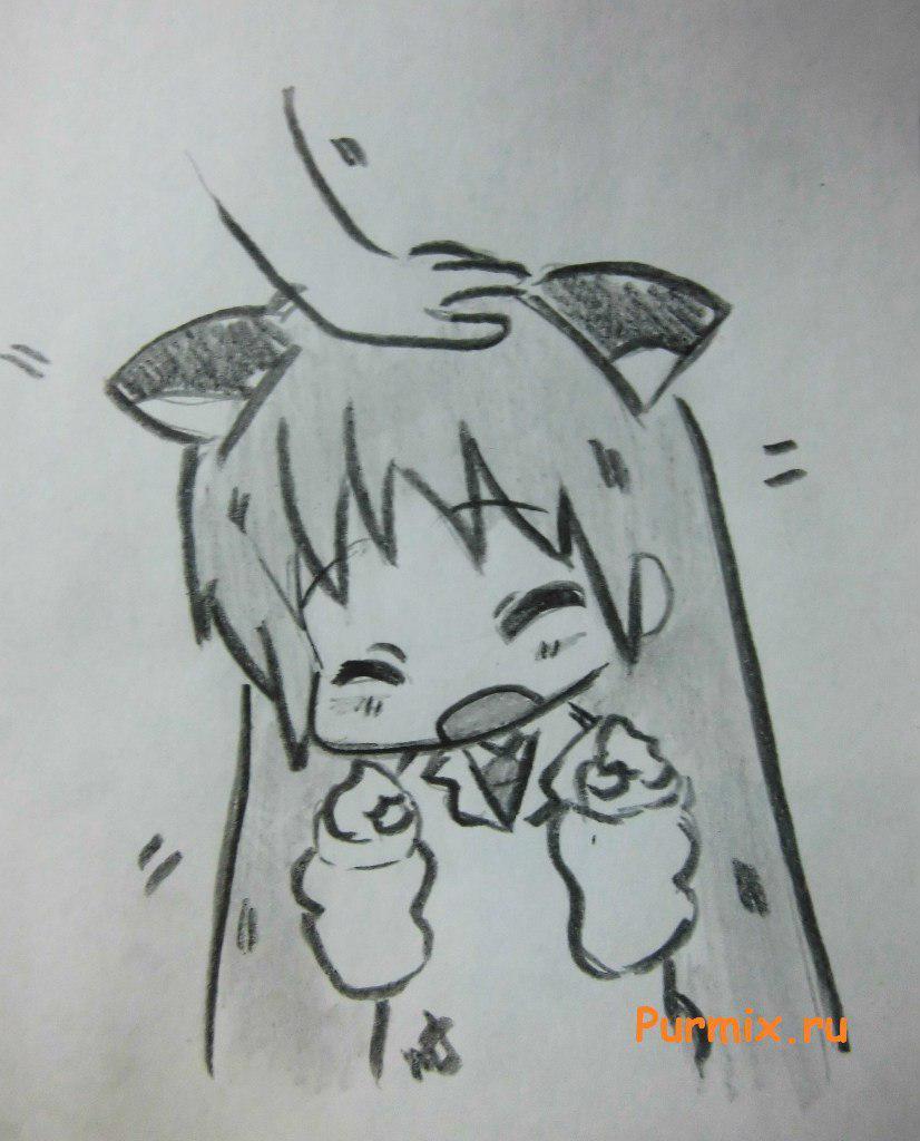 Рисуем Хакасэ Синономэ в стиле неко из аниме Мелочи жизни