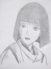 Хаку из аниме Унесённые призраками карандашом